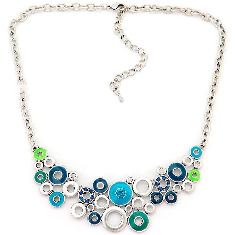 Collar Multi Silver Blue