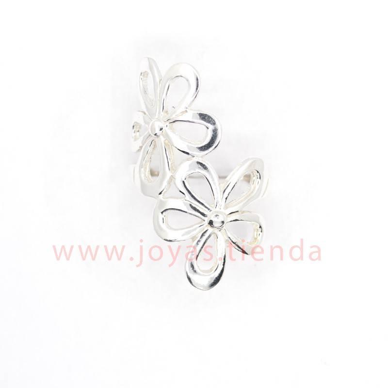 Anillo de Plata 925 Doble Flor