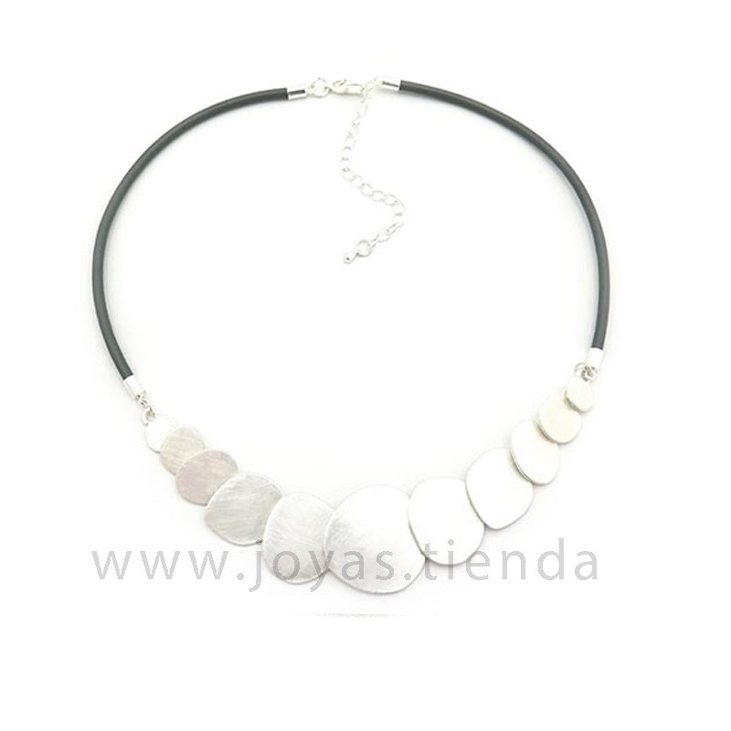 Collar Didi plateado