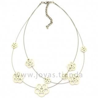 Collar Zinnia Blanco