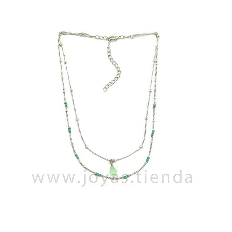 Collar Dina Silver Verde