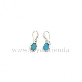 Pendientes Dina Silver Azules
