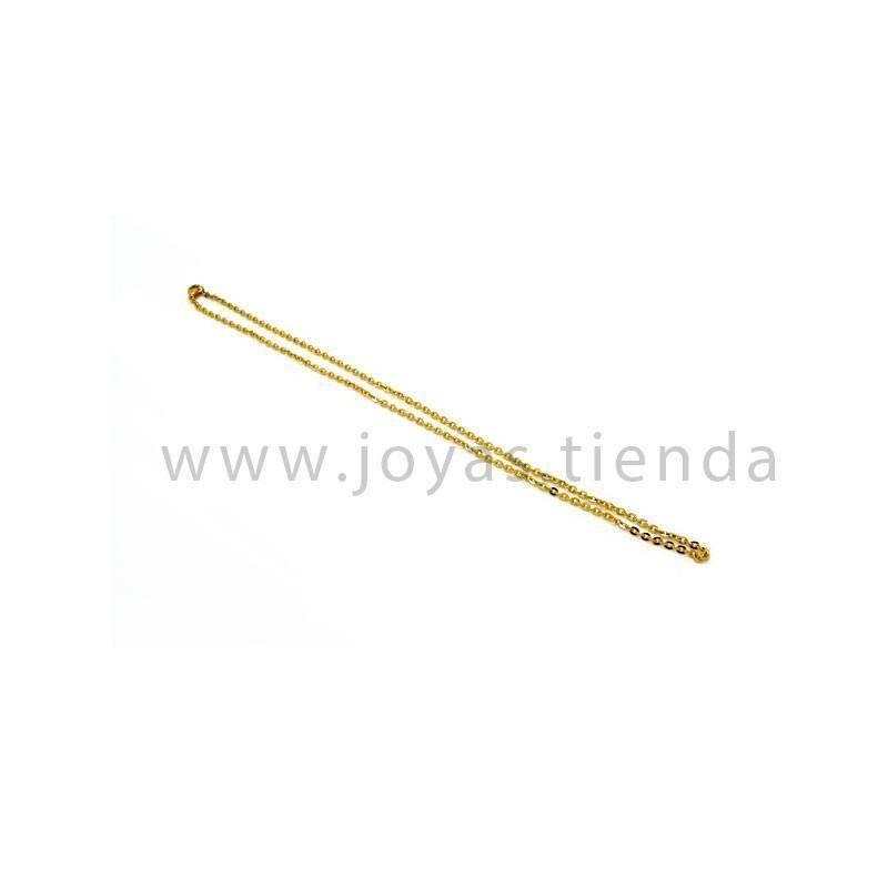 Pulsera de acero chapado color oro