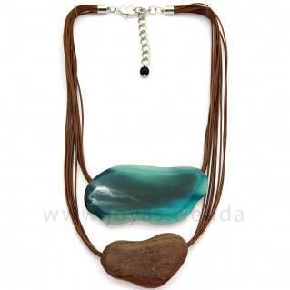 Collar Langob Aguamarina
