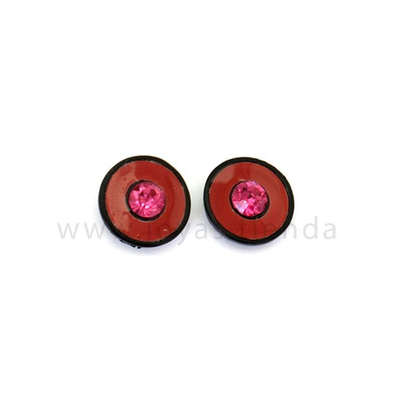 Pendientes Multi Redondos Black Rojos