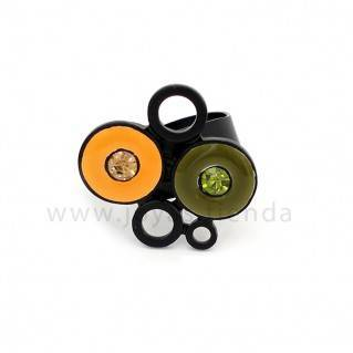 Anillo Multi Black Amarillo
