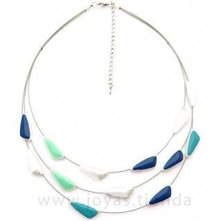 Collar Sand Blue silver