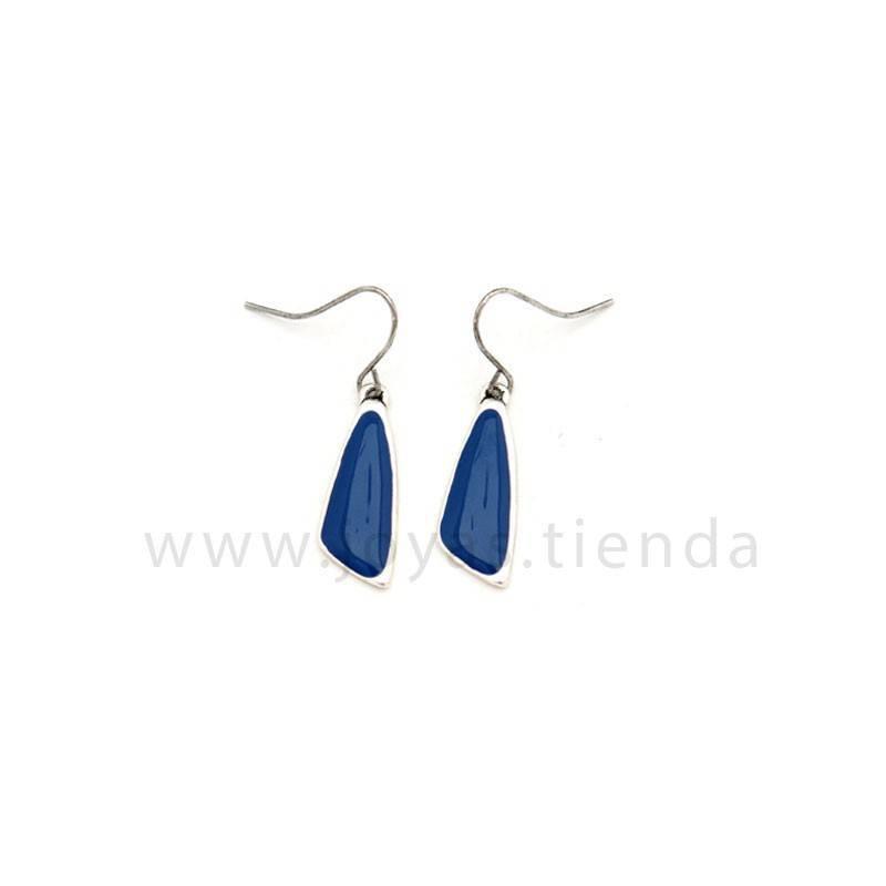 Pendientes Sand Blue Silver Azules