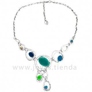 Collar Siver Blue