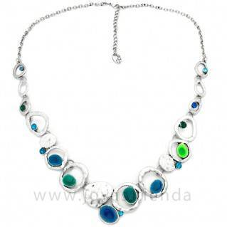 Collar Siver Blue Multi