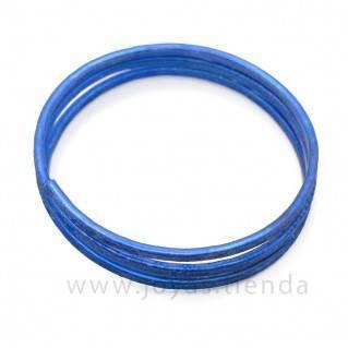 Pulsera en espiral azul detalle