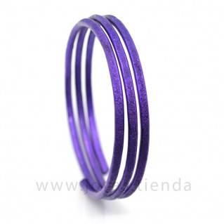 Pulsera en espiral lila