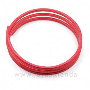 Pulsera en espiral roja detalle