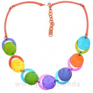 Collar redondo multicolor