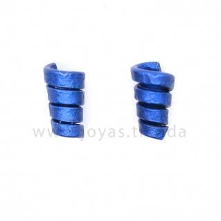 Pendientes espiral azules