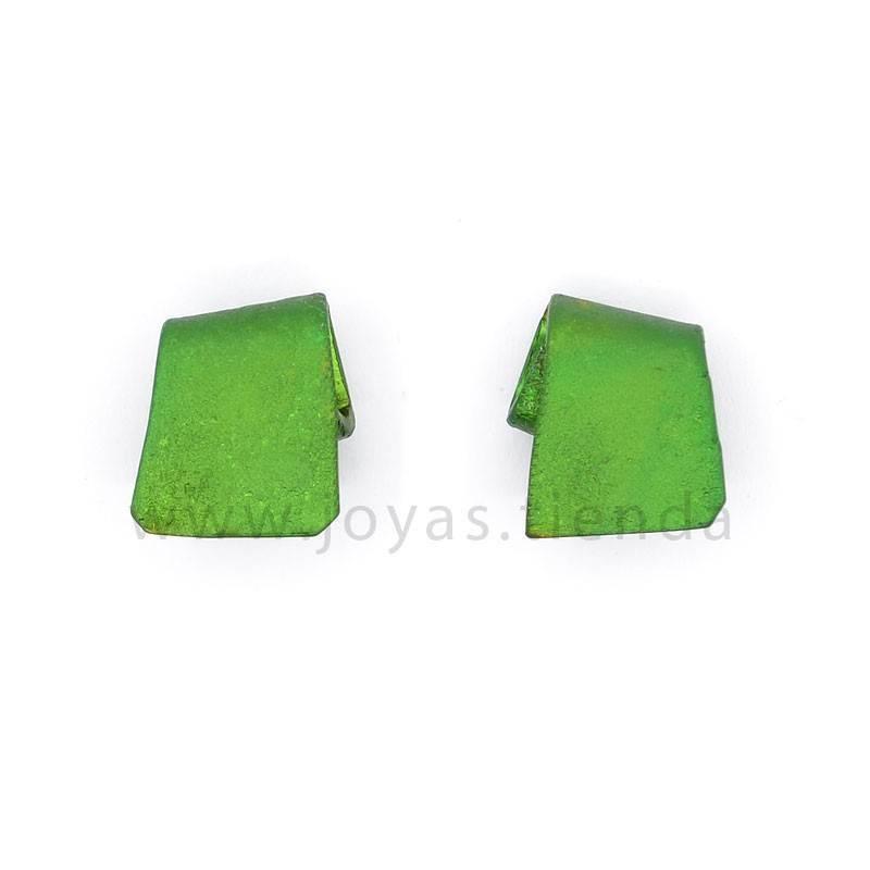 Pendientes lazo verdes