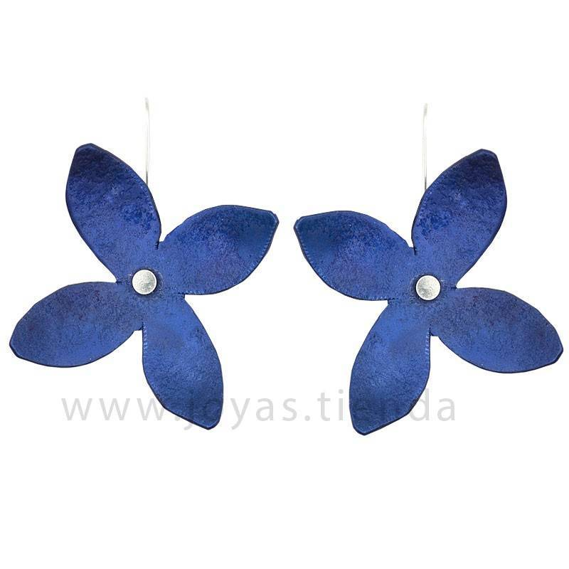 Pendientes lila azules