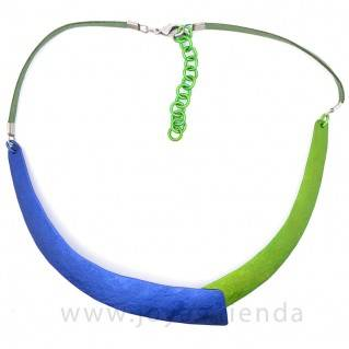 Collar colores azul y verde