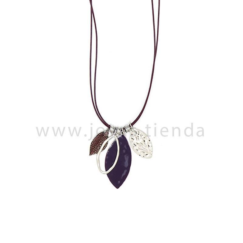 Collar Aurora Morado detalle