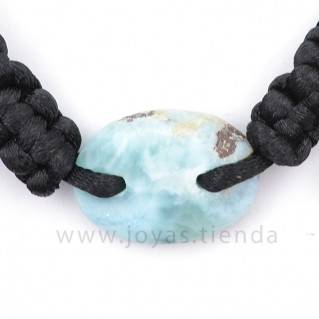 Pulsera Larimar Piedra Ovalada PL14 detalle