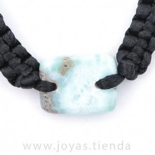 Pulsera Larimar Piedra Rectangular PL15 detalles
