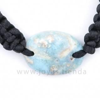 Pulsera Larimar Piedra Ovalada PL18 detalle
