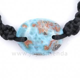 Pulsera Larimar Piedra Ovalada PL23 detalle