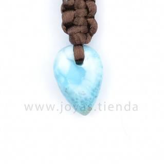 Colgante Larimar Corazón CL10 detalle