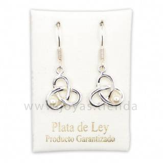 Pendientes de Plata 925 Con Perla