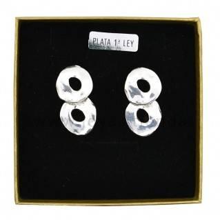 Pendientes de Plata 925 Ocho en caja