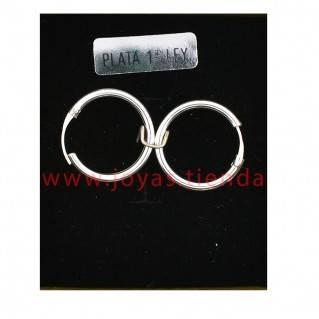 Pendientes de Plata 925 Aro 18mm