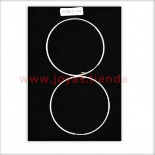 Pendientes de Plata 925 Aro 50mm